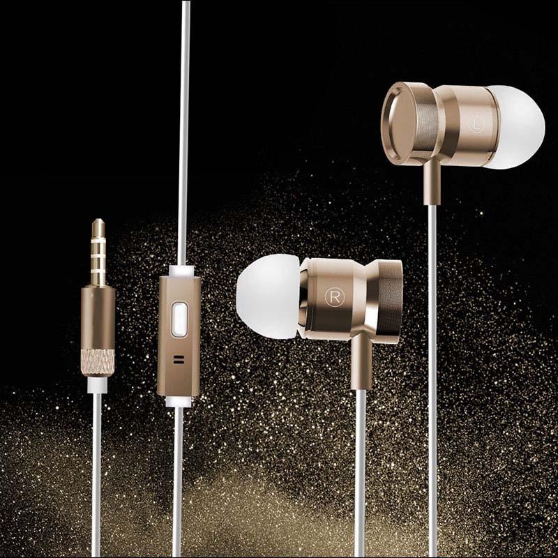 In-Ear Earbud Earphone HiFi Stereo Metal Headset with Mic for Panasonic Eluga Mark 2
