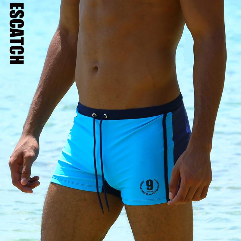 Hot Swimwear Men Breathable Swimsuits Man Swim Trunks Boxer Briefs Sunga Swim Suits Maillot De Bain Beach Shorts(China)