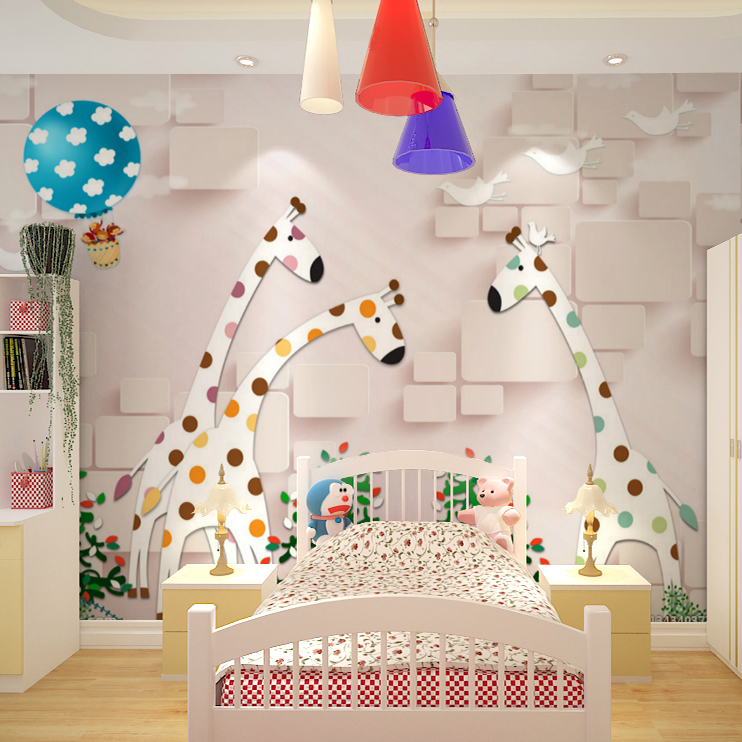 Custom 3d mural wallpaper 3D kindergarten children room bedroom living room cartoon pink giraffe hot air balloon wallpaper mural book knowledge power channel creative 3d large mural wallpaper 3d bedroom living room tv backdrop painting wallpaper