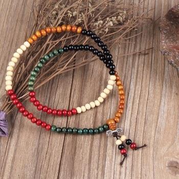 EVBEA Easter Variety of Sandalwood Tibetan Buddhist Prayer Beads Bracelets Buddha Mala Rosary Wooden Charm Bracelet Bangle Jewel 10