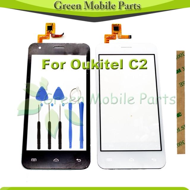 Сенсорная Панель Сенсорный Дисплей Для oukitel с2 Сенсорный экран Переднее Стекло Планшета Бесплатная Доставка