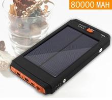 Solar Energy 80000MAH rechargeable Lithium polymer Power Source for Laptops phones 19V,4.2V,12.6V,16.8V,8.4V LiPo USB Batteries