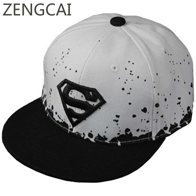 Superman Baseball Cap Kids Snapback Trucker Caps Children Adult Flat Hats For Boys Girls Women Men Dots Summer Mesh Hip Hop Hat 2016 new fashion superman snap back snapback caps hat super man adjustable gorras hip hop casual baseball cap hats for men women
