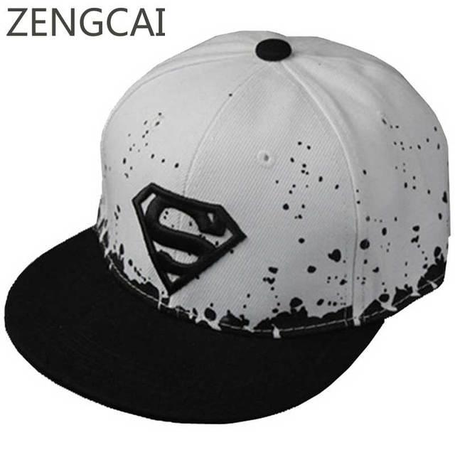 7b3e4ce4a78 Superman Baseball Cap Kids Snapback Trucker Caps Flat Hip Hop Hats For Boys  Girls Women Men
