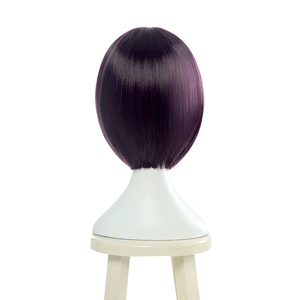 Image 3 - L email wig Fate Grand Order Shuten Douji Cosplay Wigs FGO Cosplay Short Purple Bobo Straight Wig Heat Resistant Synthetic Hair