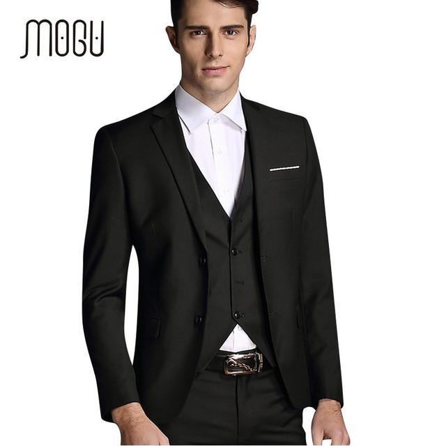 2016 Hombres Recién Llegado Chaqueta Ocasional Delgada Vestido de Trajes de Negocios Blazers Vestido de Boda Para Hombre 2 unids Chaqueta Y Pantalones