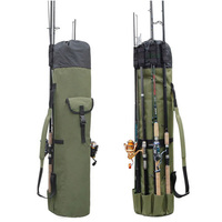 Fishing Bag Fishing Rod Reel Case Carrier Holder Fishing Pole Storage Bags Case