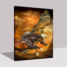 Eagle Horse DIY Painting By Numbers Digital Kits Coloring Rosa Oil Pictures Handpainted Animal On Canvas Home Decor Wall Art(China)