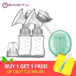 2018 двойной Электрический молокоотсос с молочной бутылкой для младенцев USB BPA free мощная грудь насосы Грудное кормление Прямая доставка