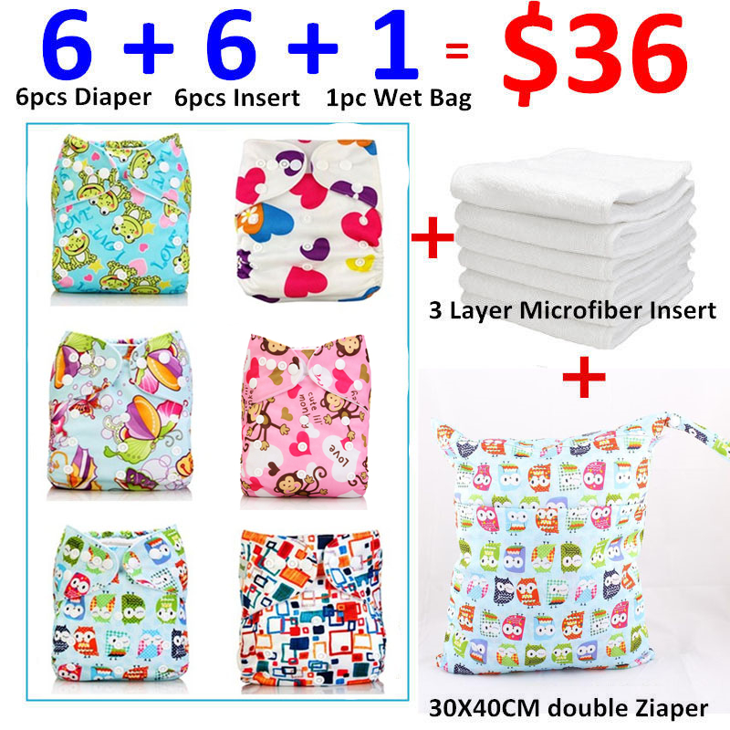 [Mumsbest]  Premature Washable Reusable Girl Cloth Pocket One Size Nappy Only $36 for 13pcs Items Baby Girls Nappy Pack Sale