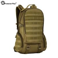 PROTECTOR PLUS Tactical Backpack Outdoor Travel Camo Webbing Backpack Full Shoulder Bag Waterproof Hunting Ammo Bags Durable