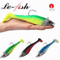 Le Fish Giant Jigging Shad 210g/300g Sea Fishing Lure Soft Bait Artificial Fishing Lure With VMC Hook Trolling Fishing Lure