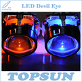 Car Styling Kit de 2.5 pulgadas Lente Del Proyector WST y LED Diablo ojo en el Sistema de Iluminación Automático con Aleta de Enfriamiento para toda Porjectors lente