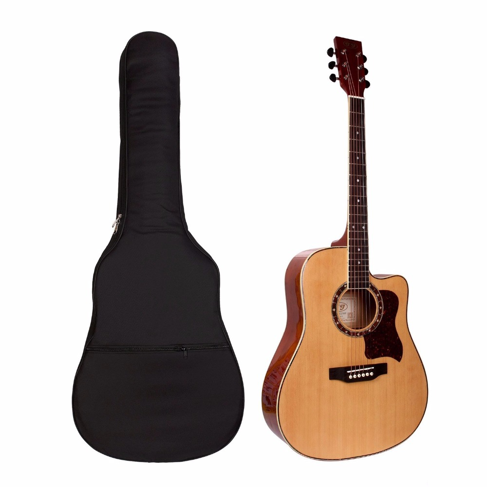 41inch 40inch Waterproof Guitar Bag case Lightweight Electric Acoustic Guitar Bag Case Bass Carry with Shoulder Strap portable double shoulders 40inch 41inch wood guitar case 41inch 42inch ballad guitar cover plus 42inch acoustic guitar bag parts