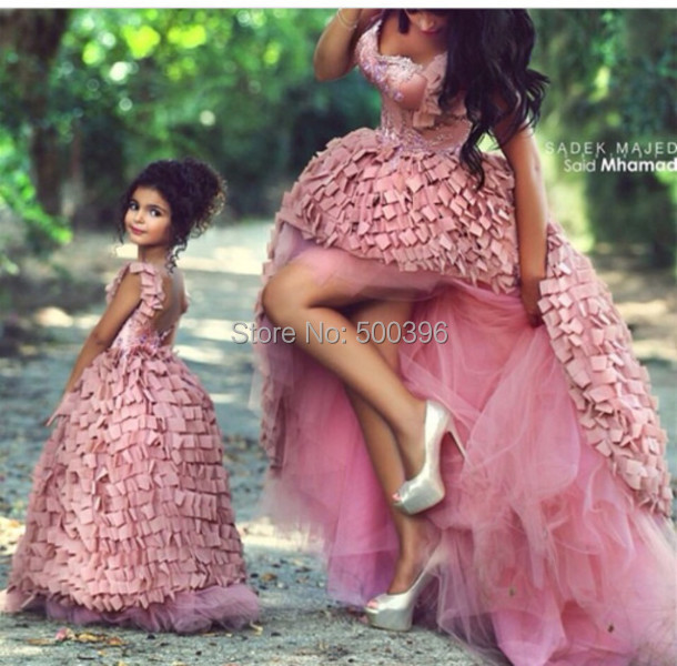 Lovely Pink High Low Prom Dress 2015 Women Formal Dress vestidos de ...