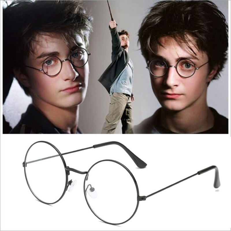 Harri Potter Glasses Retro Vintage Round Glasses Metal Alloy Frame  Harry Glasses Eyewear Clear Transparent Lens Men Women Femal