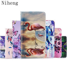 Phone Case For Huawei Mate 20 Lite Flip 6.3 Colorful Wallet Leather Cover Bag