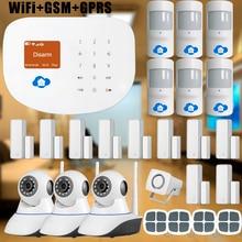 Chuangkesafe wifi de casa inteligente/interder antirrobo gsm seguridad para el hogar/sistema de alarma 3 unids wifi cctv cámara de mascotas friendly motion detector