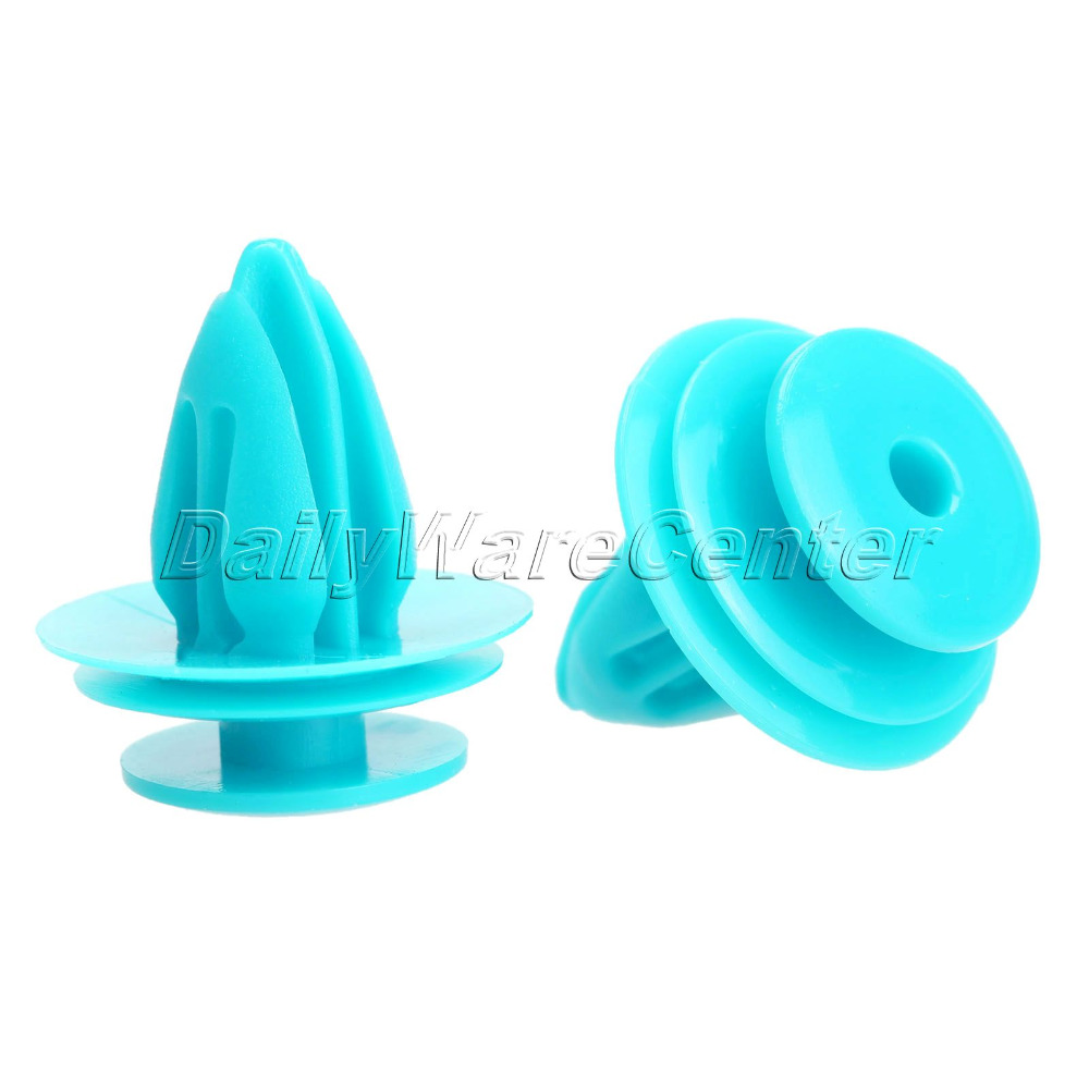 50pcs car fastener clips fender push in type plastic rivets fit hole blue auto vehicle. Black Bedroom Furniture Sets. Home Design Ideas