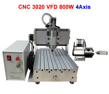 Woodworking machine  3020Z-VFD 800w mini lathe , 4 axis cnc lathe, EU country free tax
