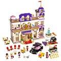 1585 pcs BELA 10547 Da Série Da Menina Do Coração Lago Hotel Da Cidade Menina Amigos LEPIN de Blocos de Construção Tijolos Brinquedos para Crianças
