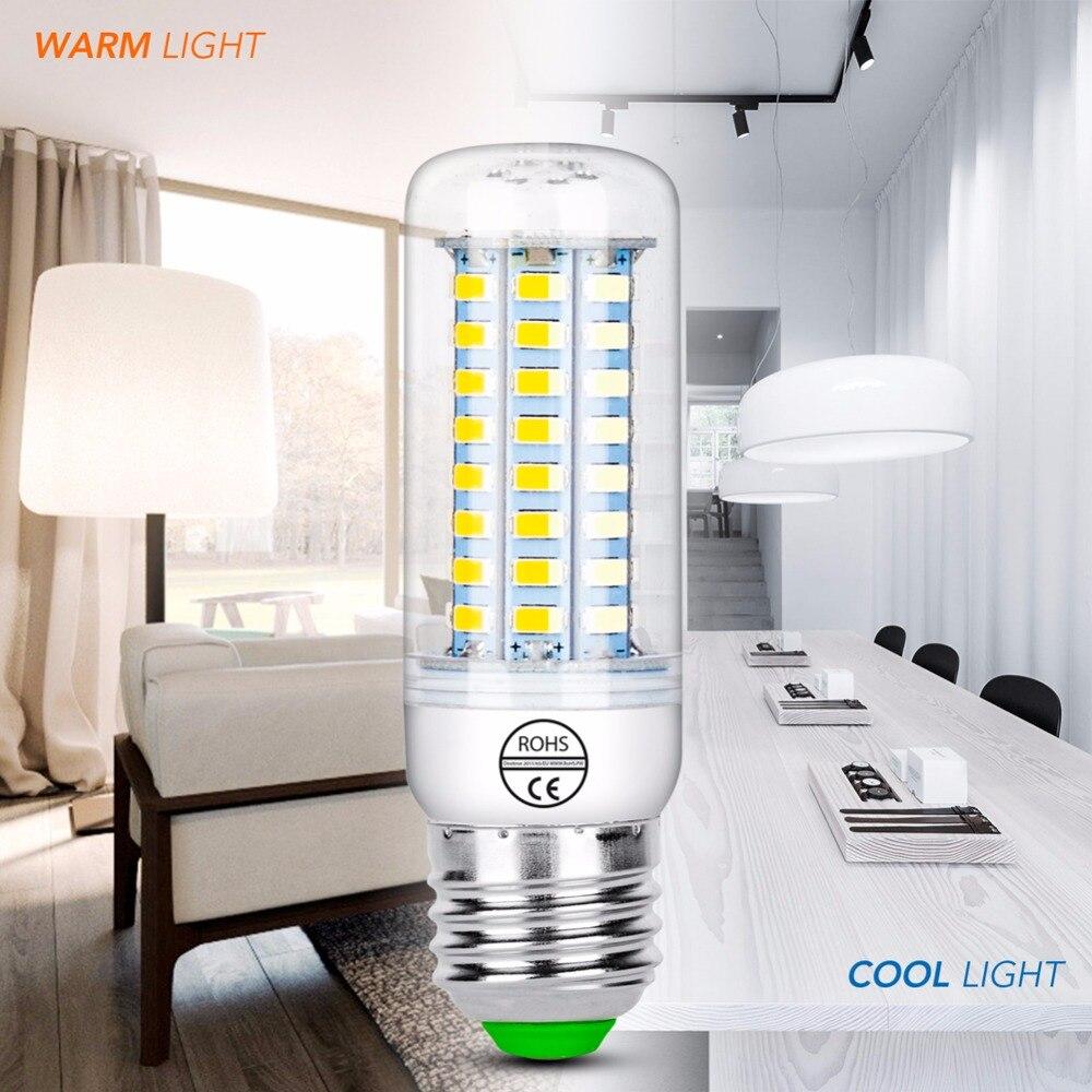 Bombillas Led E14 220V E27 Led Lamp G9 Corn Bulb 5730 24 36 48 56 69 72led Lampada Para El Hogar 3W 5W 7W 12W 15W 20W Light 240V
