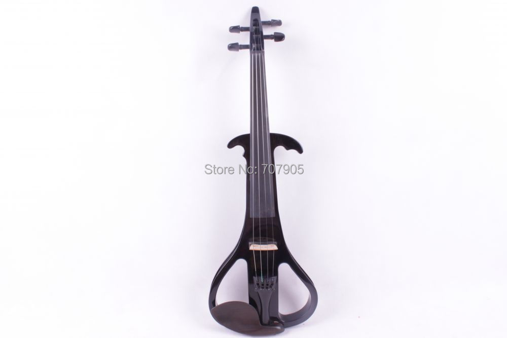 black 4 string  4/4 Electric Violin Silent Pickup Fine tone Solid wood3# the item is the color can choose color one 4 string 4 4 violin electric violin acoustic violin maple wood spruce wood big jack green color