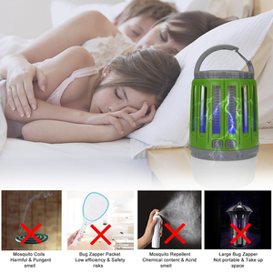 Image 5 - LED Tent Lamp 2 in 1 Bug Zapper Lamp USB Rechargeable Camping Lantern Portable Waterproof Electric Mosquito Killer LED Lantern