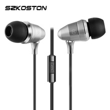KST In-Ear Earphones Metal Bullet Heavy Bass Earphones With Microphone HIFI Sound Quality for Mobile Phone Samsung Mp3 Mp4