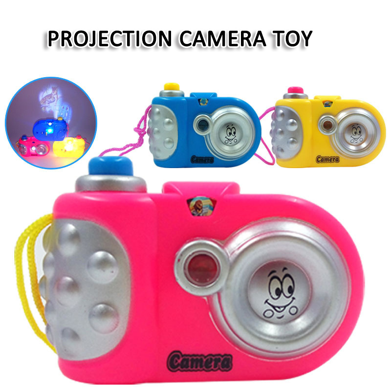 Cartoon Projection Camera Toys For Kids LED Light Projection Nursery Children Educational Study Toys Baby Gift Brinquedos