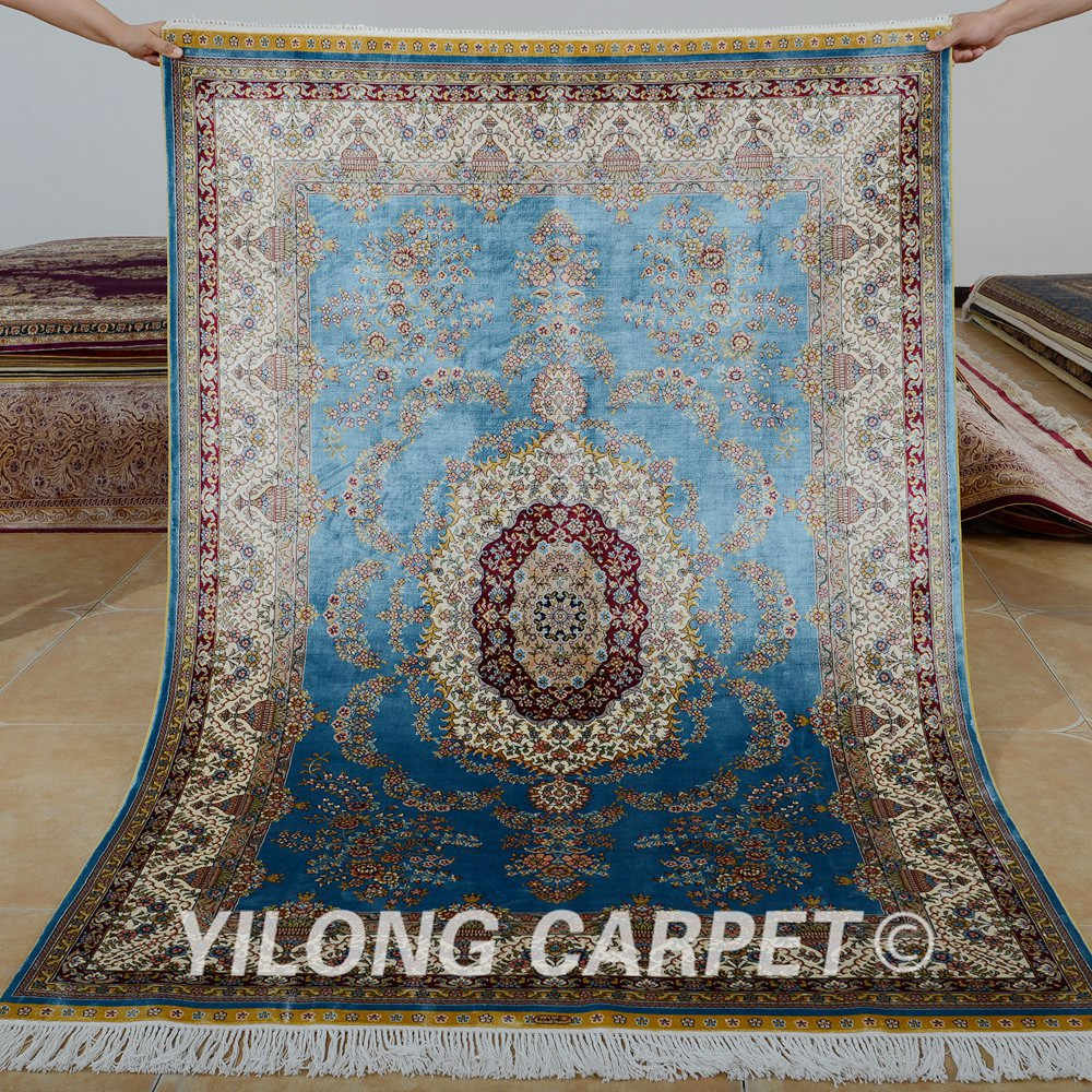 X6 Traditional Turkish Carpet Blue