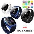 M26 Bluetooth V4.0 Наручные SmartWatch Телефон Mate С SMS Напомнить Шагомер Для iPhone Android IOS для Samsung Смартфонов