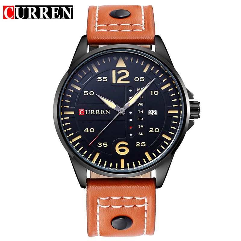 CURREN Luxury Brand Relogio Masculino Date Leather Casual Watch Men Sports Watches Quartz Military Wrist Watch Male Clock 8224 curren luxury brand relogio masculino date leather casual watch men sports watches quartz military wrist watch male clock 8224
