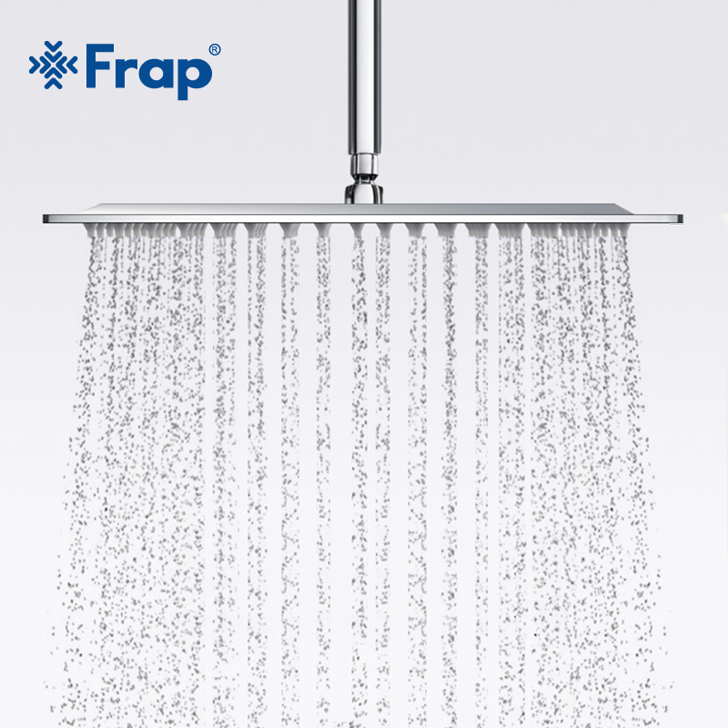Frap New Arrival 300*300mm Square Stainless Steel Shower Head Rainfall Shower Faucet Overhead F28-3
