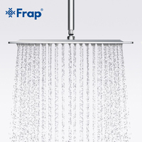 Frap New Arrival 300*300mm Square Stainless Steel Shower head Rainfall Shower Faucet Overhead F28 3