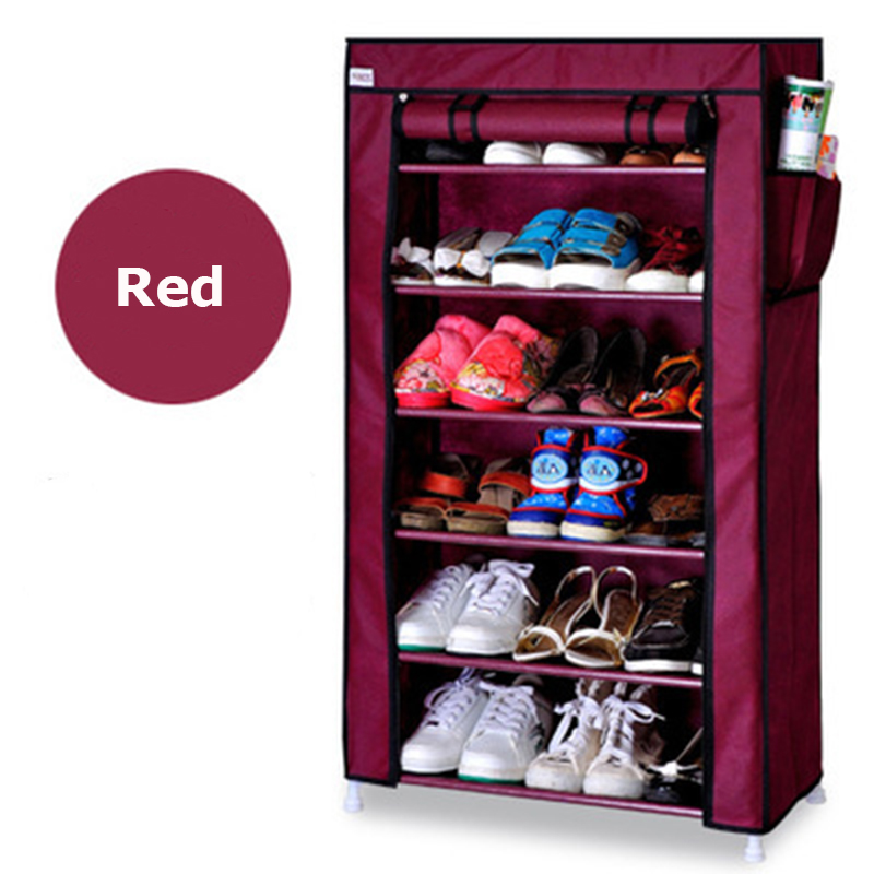 Portable Home furniture Shoe cabinet 8-laye large Simple printing shoe rack removable shoe for living room Muebles simples