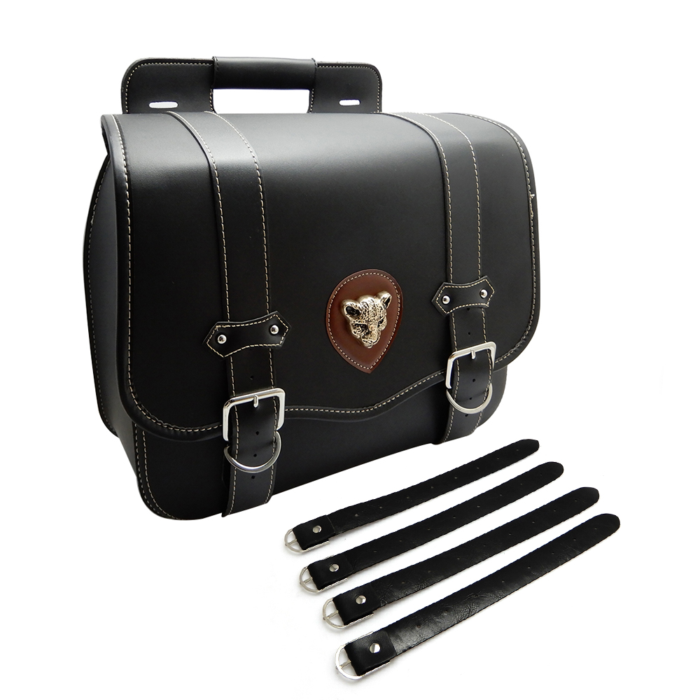 043dac44ad19 2X PU Leather Motorcycle Luggage Tool Side Bag Saddlebag For Sportster XL  883 XL 1200 outdoor Bags after market