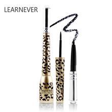 LEARNEVER 2pcs עמיד למים אייליינר נמר נוזל אייליינר + עיפרון עיניים נוזלי איפור יופי קוסמטיקה עט איפור