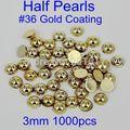 Pegamento En Granos de la Resina 3mm 1000 unids/pack Muchos Colores AB Imitación Medio Alrededor de Las Perlas Para La Joyería de Uñas Consejos decoración