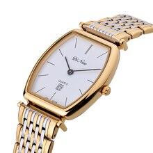 Men's Watch Fashion Leisure Waterproof Ultra-thin Quartz Watch Rectangular Watch Business Men's Watch