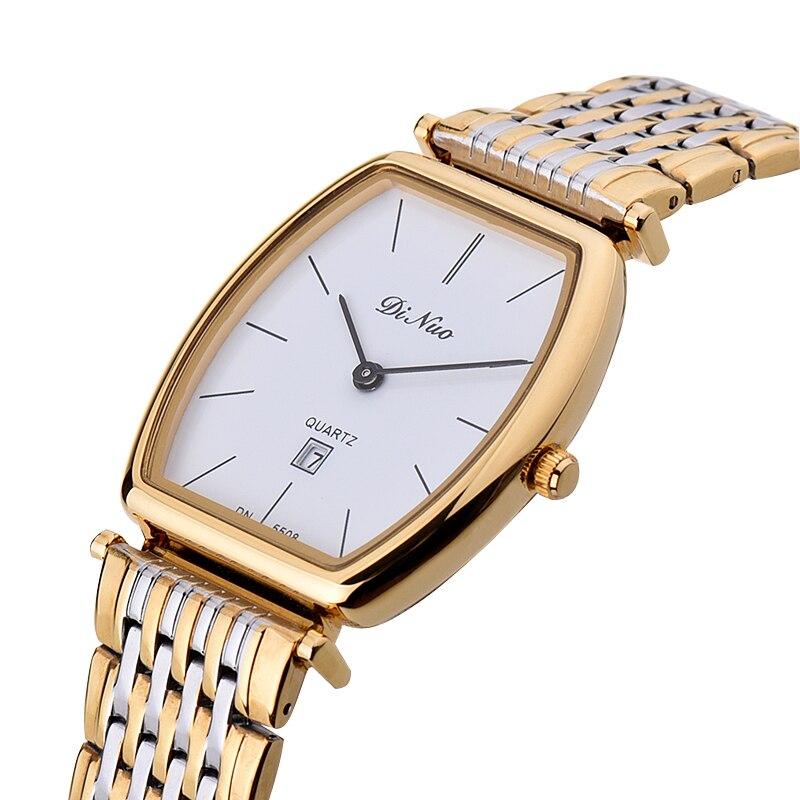 Men s Watch Fashion Leisure Waterproof Ultra thin Quartz Watch Rectangular Watch Business Men s Watch