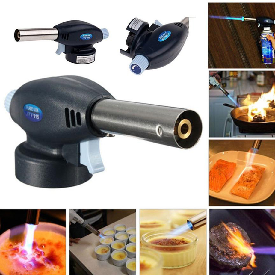 Blow Torch Butane Gas Flamethrower Burner Welding Auto Ignition Soldering BBQ Blue outdoor  Activity Water Heating Cooking 2018 butane torch