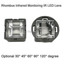 22 мм Ромб инфракрасный мониторинг ИК светодиодный объектив с черным держателем 30 45 60 90 120 градусов для 1 Вт 3 Вт 5 Вт высокой мощности 850нм 940нм светодиодный