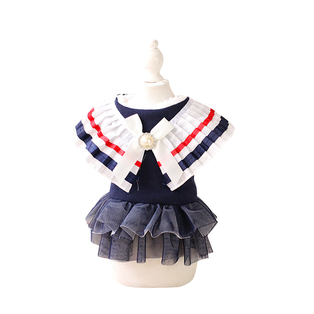 Pet Dog Puppy Warm Cotton Dress Jumpsuit Coat Clothes Outwear  Cute princess dress for large, medium and small pets