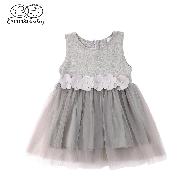 Emmababy Newborn Floral Lace Flower Summer Princess  Dress Baby Girl Tutu Sleeveless Dresses Toddler Bridesmaid Party Sundress one piece new kids girl princess sheer tulle tutu summer dress newborn toddler lace vest party sundress