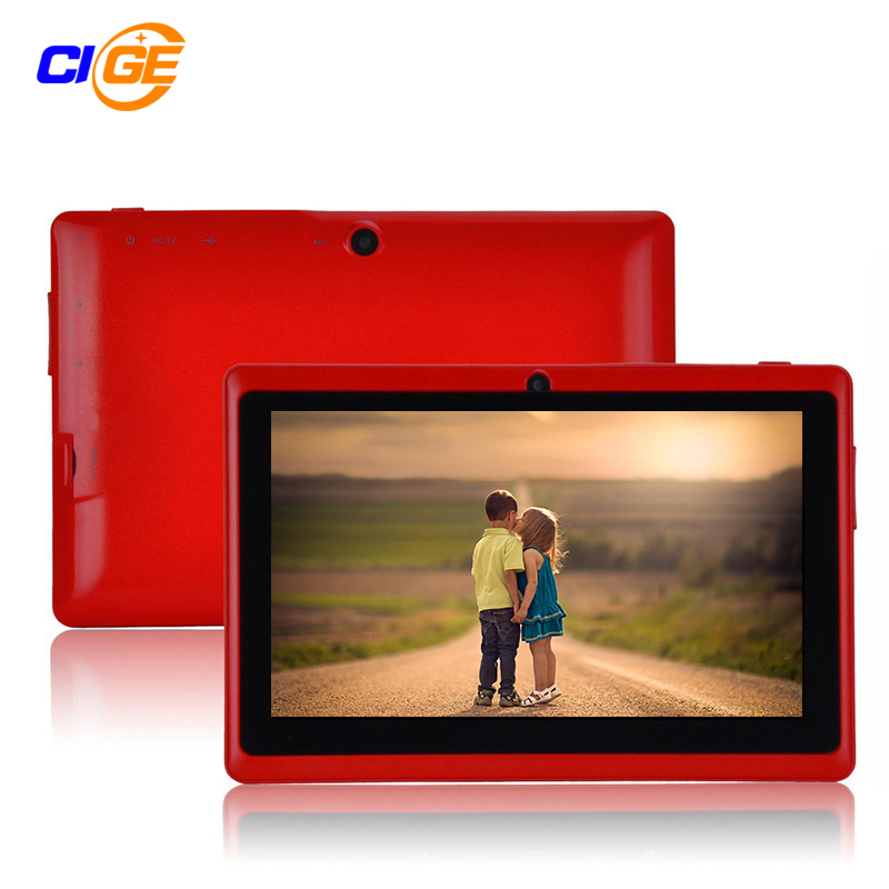 7 pulgadas Quad core Q88 1.5 GHz android 4.4 tablet pc Q8 allwinner A33 RAM 512