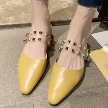 New Summer Clear Transparent Women Shoes Woman Mules Slippers Slides Square Peep Toe Med Heels Slippers Female Ladies Shoes wetkiss new summer med heels women slippers 2018 fashion casual ladies mules shoes open toe square heels leather slides footwear
