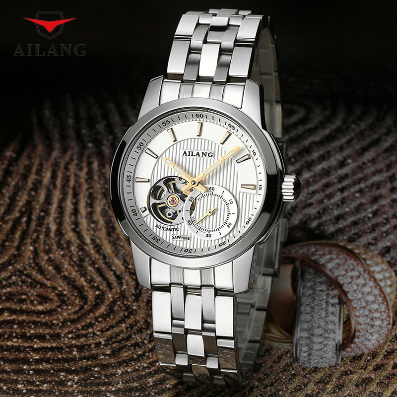 AILANG Men Automatic Wrist Watches Simple Business Multiple Functions Watch Men's Calendar Water Resistant Mechanical Watch A079 цена и фото