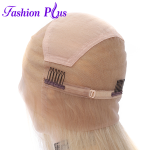 Image 3 - Full Lace Human Hair Wigs Pre Plucked 613 blonde Brazilian Remy Hair Wigs For Women Human Hair Wigs 14 24 Can Be Customized