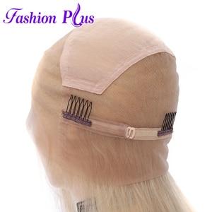 Image 3 - Tam sırma insan saçı Peruk Ön Koparıp 613 sarışın Brezilyalı Remy Saç Peruk kadın peruk Peruk 14 24 Olabilir özelleştirilmiş